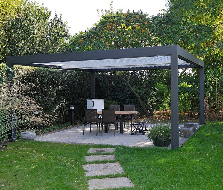 pergolas en aluminium maison design. Black Bedroom Furniture Sets. Home Design Ideas