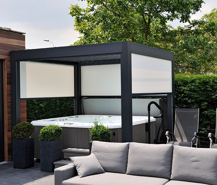 pergola avec rideau zakelijksportnetwerkoost. Black Bedroom Furniture Sets. Home Design Ideas